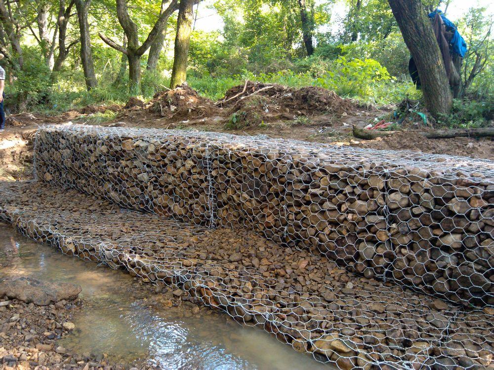 镀锌石笼网河道防护