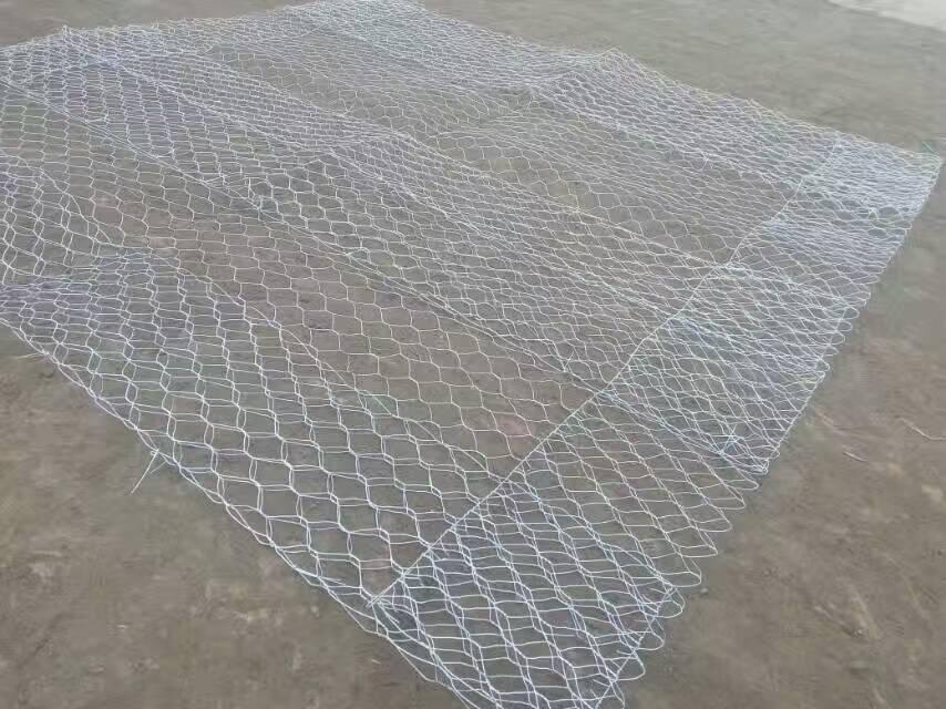 折叠片状石笼网箱展开后的样子