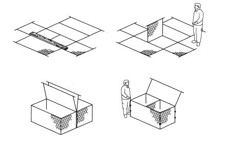 石笼网箱组装展示