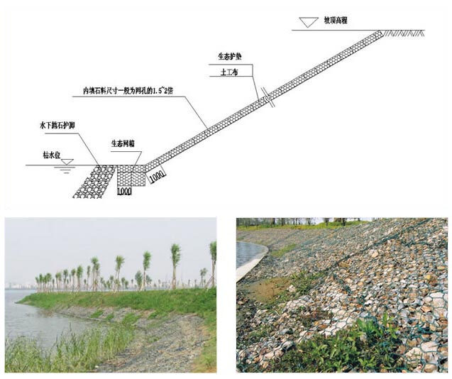 河道护坡生态护垫、生态网箱