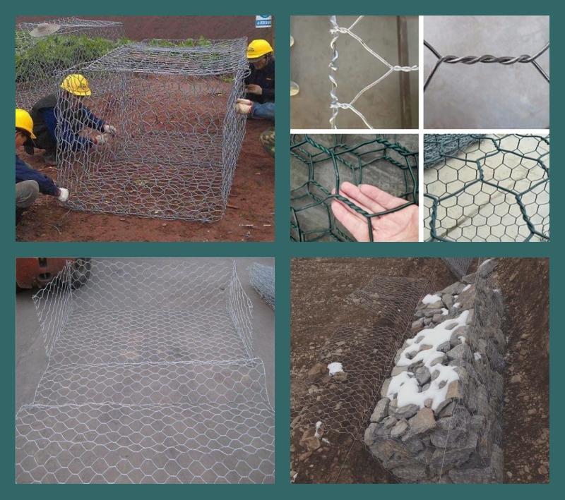 镀锌石笼网、覆塑石笼网