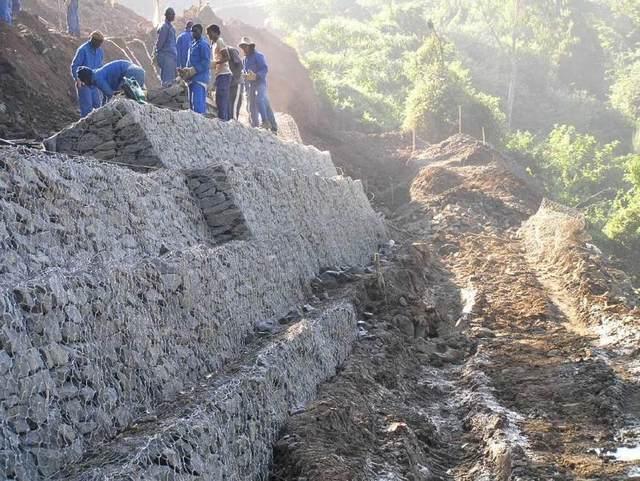 格宾山体挡土墙